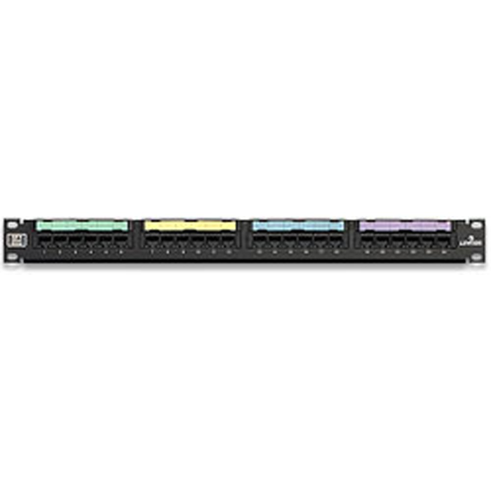 Leviton 69586-U24 eXtreme 6+ Universal Patch Panel, 24-Port, 1RU, CAT 6. Cable Management Bar Included