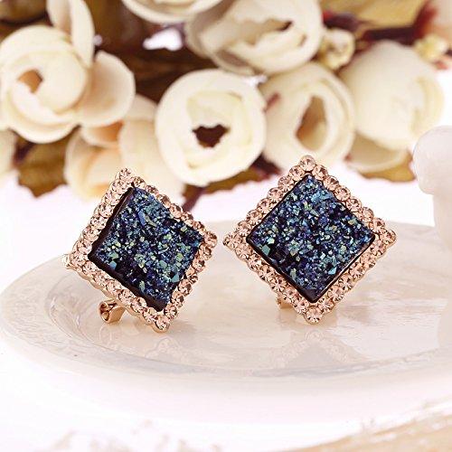 Unique Creative Fashion Luxury Blue Diamond Earrings earings Dangler Eardrop Jewelry Box Earring Women Girls Hypoallergenic Trend by KGELE Earrings (Image #3)