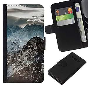 All Phone Most Case / Oferta Especial Cáscara Funda de cuero Monedero Cubierta de proteccion Caso / Wallet Case for Samsung Galaxy A3 // Dark Rocky Mountains