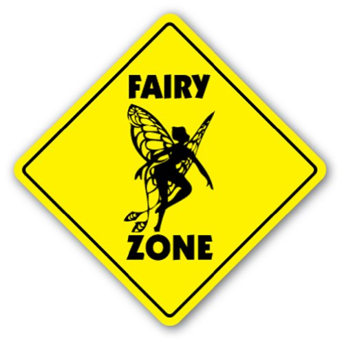 FAIRY ZONE Sign novelty gift chld kids tinkerbell (Nursery Rhyme Costumes Ideas)