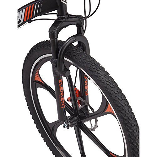 "21 speed Shimano Revo twist shifters 26"" Mens Mack Mag Wheel Bike, Black and Orange"