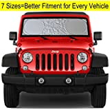 AUTO_ACCESSORY Automotive Amazon, модель Windshield Sun Shade for Jeep Wrangler Rubicon Toyota FJ Cruiser XS, артикул B0732R11Y2