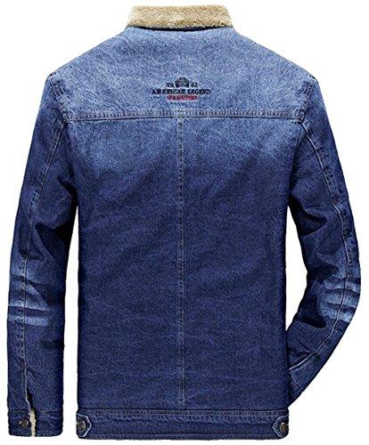 Caldo Outwear B Manica Retro Lunga Parka Jeans Uomo Azzurro Inverno Capispalla Minetom Giacca Casual Da Giacche Jacket qt1pBc