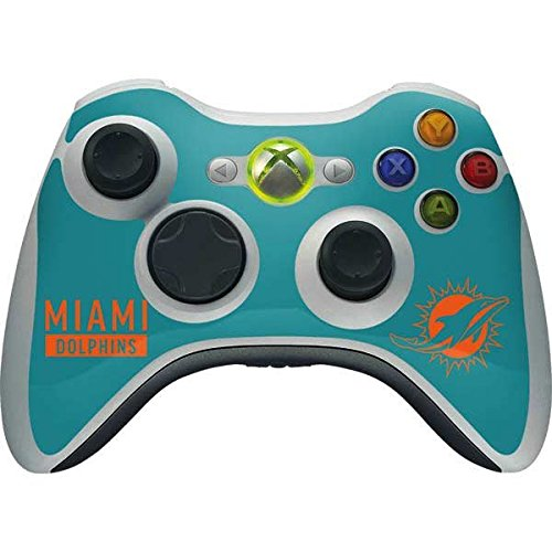 (Skinit NFL Miami Dolphins Xbox 360 Wireless Controller Skin - Miami Dolphins Teal Performance Series Design - Ultra Thin, Lightweight Vinyl Decal Protection)