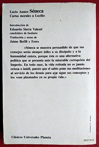 Cartas Morales a lucilio: Amazon.es: Lucio Anneo Seneca: Libros