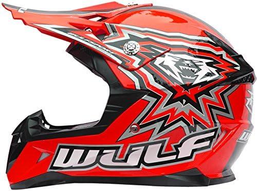 53-54cm /& XS Gloves Wulf Wulfsport Kids Children LA Motorbike Motocross Boots /& Boots EU35 Red Helmet XL 7cm Wulfsport Kids Flite Motocross Helmet Gloves /& Goggles