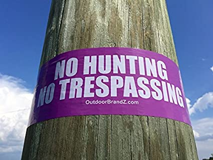 Amazon.com: Púrpura – No Caza/No Trespassing frontera cinta ...