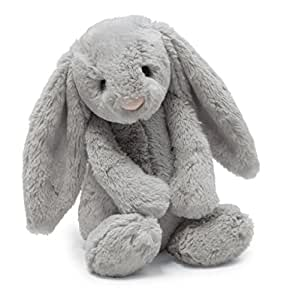 Jellycat Bashful Grey Bunny, Large - 14 inches