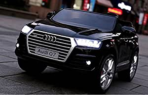 ride on toys for girls 2 to 5 years AUDI Q7 LICENSED: Remote Control Battery Operated 12V total. electric car to ride. power wheels for kids. childish steerage. Engine sound+Open doors+Safety belt!