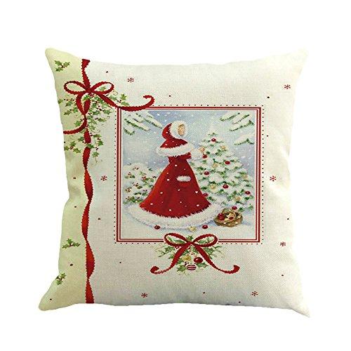 Christmas Printing Dyeing Sofa Bed Home Decor Pillow