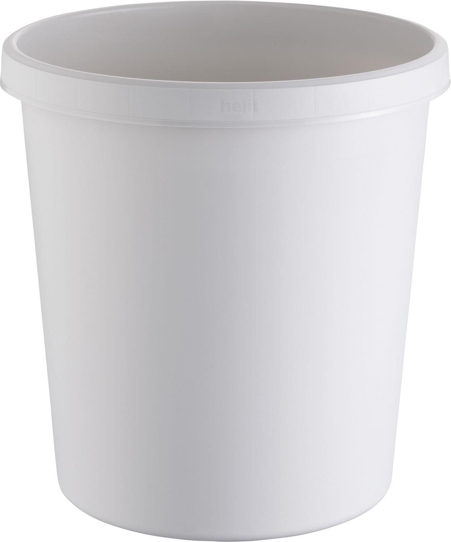 PE lichtgrau rund helit Papierkorb 18 Liter