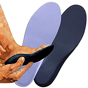 FootMatters Extra Light Self-Molding Custom Comfort Orthotic Insoles - Help Relieve Arthritis, Flat Feet, Foot, Heel & Arch Pain - Custom Molds to Your Feet - Super Lightweight