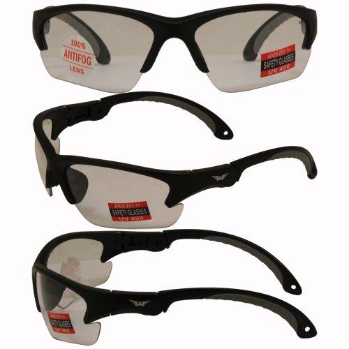 Global Vision Klick Safety Sunglasses Black Frame Clear - Glasses Klick