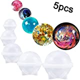 Sphere Silicone Mold For Round Resin Epoxy, Jewelry Making, Candle Wax, Homemade Soap, DIY Plastic Bath Bomb Mold (5Pcs)