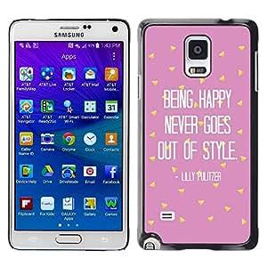 TopCaseStore / la caja del caucho duro de la cubierta de protección de la piel - Motivational Pink Text - Samsung Galaxy Note 4 SM-N910F SM-N910K SM-N910C SM-N910W8 SM-N910U SM-N910