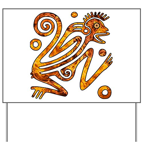 Yard Sign Chinese New Year Aztec Style Fire Monkey 2016