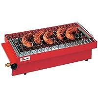 Tischbräter klein rot Tableroaster Camping Balkon Picknick 1-flammig ✔ eckig ✔ tragbar ✔ Grillen mit Gas
