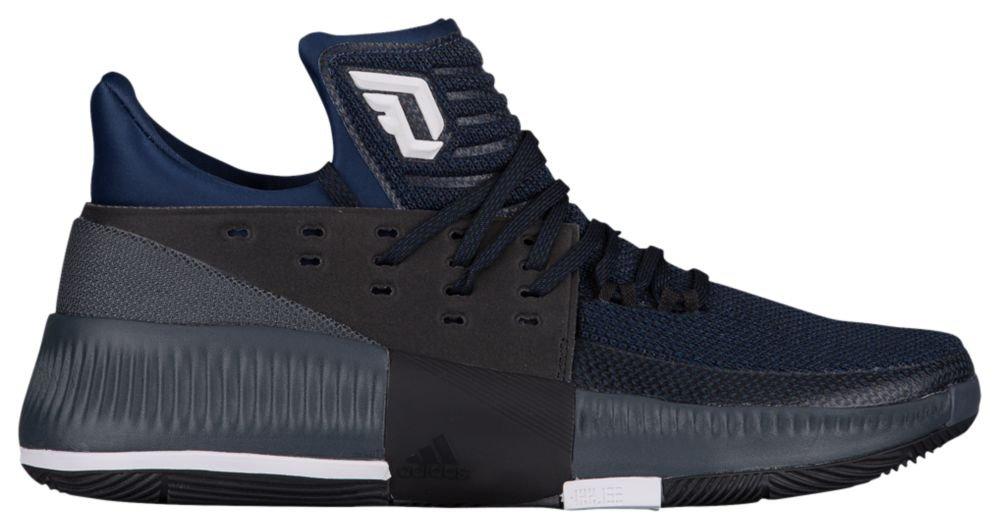 f53efa895c71 Galleon - Adidas Men s Dame 3 Mystic Blue Black White 8.5 D US