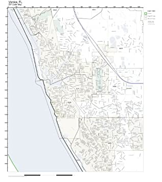 Map Of Venice Florida.Amazon Com Zip Code Wall Map Of Venice Fl Zip Code Map Laminated