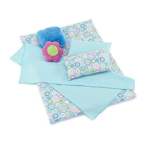Emily Rose 18 Inch Doll Accessories | 6 Piece Reversible Doll Bedding Set with Plush Comforter, 4 Pillows and Sheet | Fits American Girl Dolls (18 Doll Bed Linens)