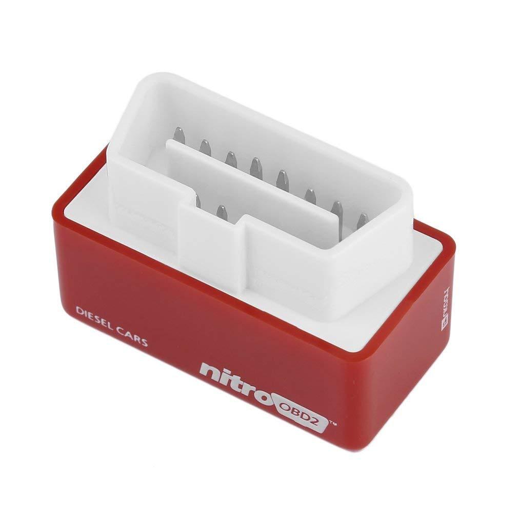 Kitechildhood OBD2 Plug Drive OBDII Scatola di Regolazione della Coppia pi/ù Potente per Auto Diesel//Benzina Rossa