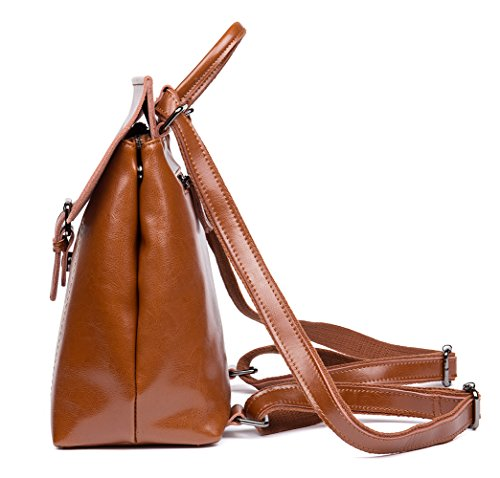 Multi functional Fashion Shoulder Cow Brown Bag Bag Leather Backpack OSONM Bag Womens 86xq44