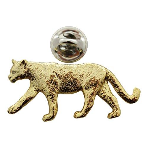 (Cougar or Mountain Lion Pin ~ 24K Gold ~ Lapel Pin ~ Sarah's Treats &)