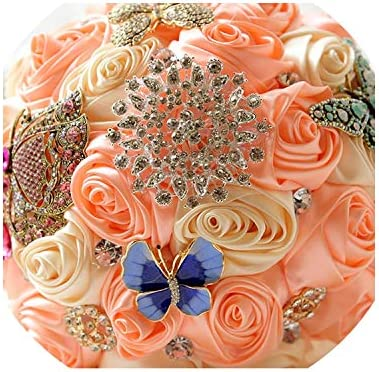 Amazon Com Stunning Butterfly Brooches Bouquet Wedding Bridal