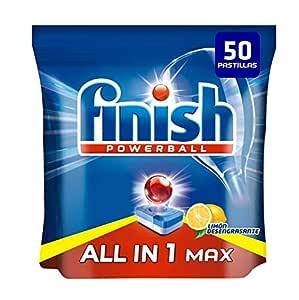 Finish Todo en 1 Max Pastillas para Lavavajillas Limón - 50 ...
