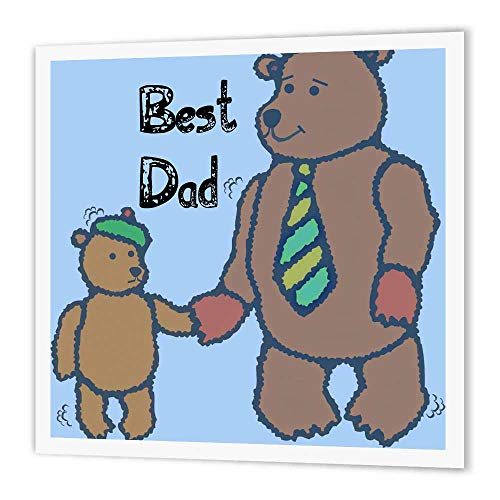 3dRose ht_52714_1 Best Dad Bears-Fathers Day-Cute Art-Iron o