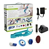 no power vaccum - Easehold Handheld Electric Power Scrubber for Bathroom and Kitchen Cleaning Use with 3 Brushes 1 Scouring Pad Wireless Rechargeable Battery