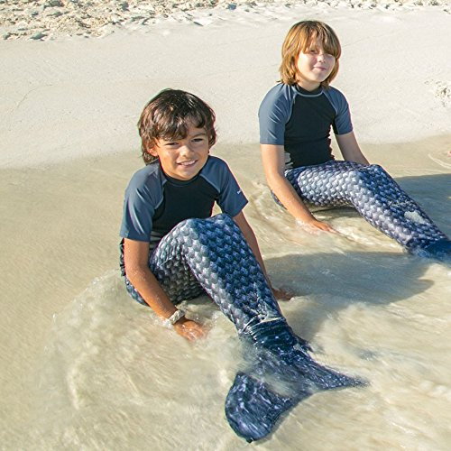Fin Fun Mermaid Tail, Reinforced Tips, Monofin, Barracuda Black, Size Adult S by Fin Fun (Image #5)