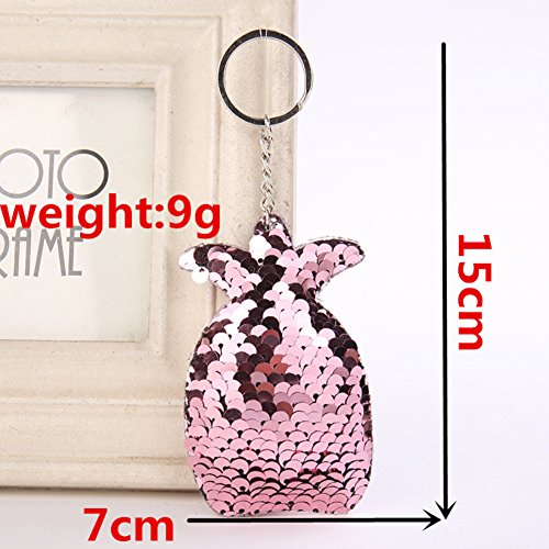 Charms Handbag Pineapple Keychain for Women Purse Chain Sequins Key Accessories Shiny Colorful Sparkly Sequin Bag S7xaqz5w