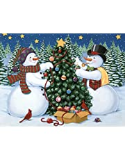 """Diamond Painting by Number Kits Happy Town Christmas Decorations Full Drill 5D DIY Arts & Crafts Bling Artwork Decor Set with Crystal Rhinestone Gems 12x16"""" 30 x 40 cm"""