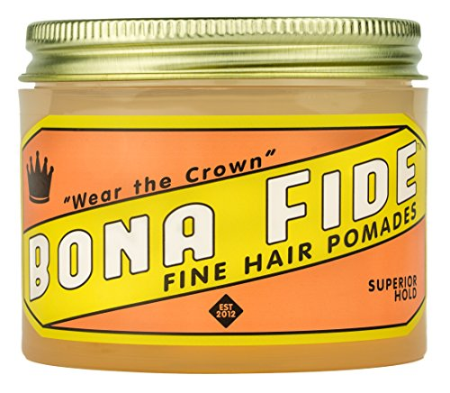 Bona Fide Pomade, Superior Hold, 4 oz.
