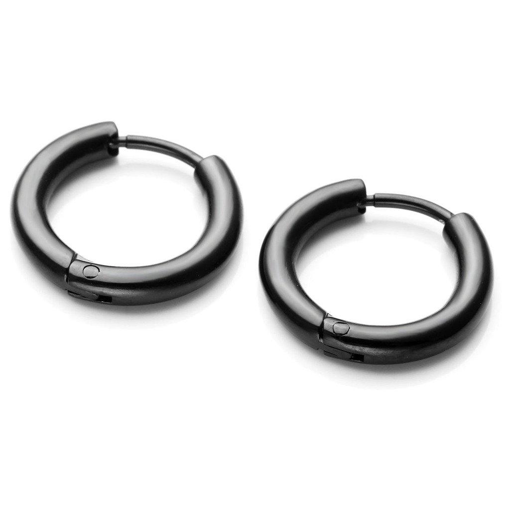 65b19849fc92a1 Amazon.com: JOVIVI 2-10pcs 8-16mm 18G Unisex Stainless Steel Black Round  Cute Small Hoop Earrings Piercing Jewelry: Jewelry