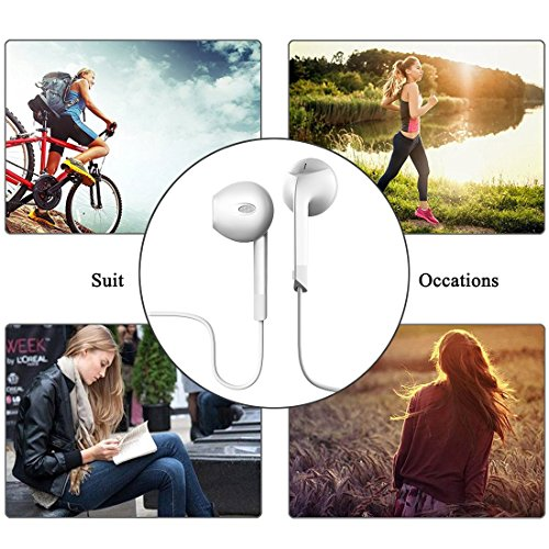 Earphones,HaRuion Earbuds,Headphones,In Ear Earphones,Ear buds Wired with Mic for Apple Iphone 6S Plus/Samsung Galaxy S9 Edge 8/Huawei/LG/Blackberry Mobile Devobile Device MP3 Music Player Ios Android by HaRuion (Image #7)