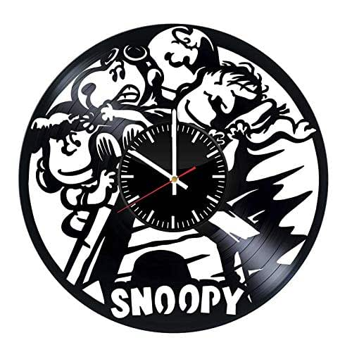 Amazon Com Snoopy Gift For Kids Vinyl Record Wall Clock