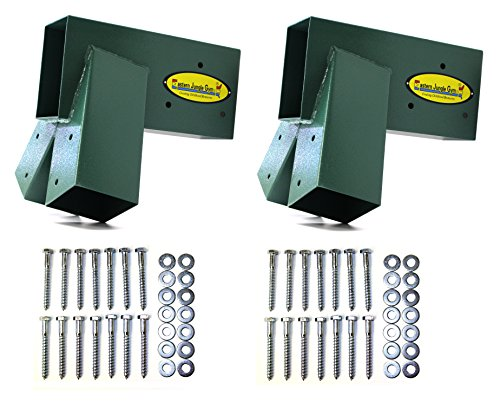 Easy 1-2-3 A-Frame Swing Set Brackets Complete Set 2 Brackets with All Mounting Hardware (Set Replenishment)