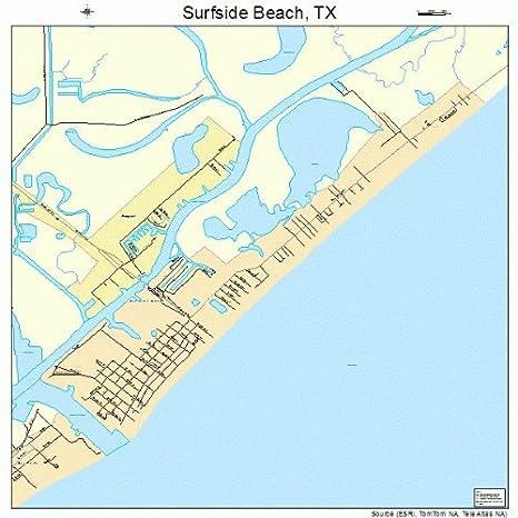 Amazon Com Image Trader Large Street Road Map Of Surfside