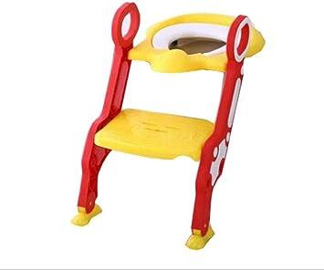 BOC Escalera del Inodoro para Niños Inodoro Niño Orina Orinal Silla para Baño Infantil Asiento de Inodoro Plegable con Reposabrazos Soporte Adecuado para 1-7 Años,B,Pretil: Amazon.es: Deportes y aire libre