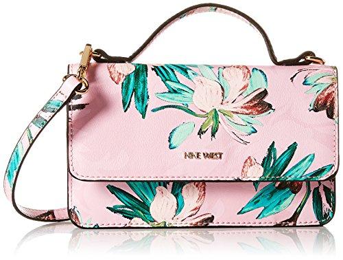 Nine West Top Handle Wallet on a String, Pink/Multi