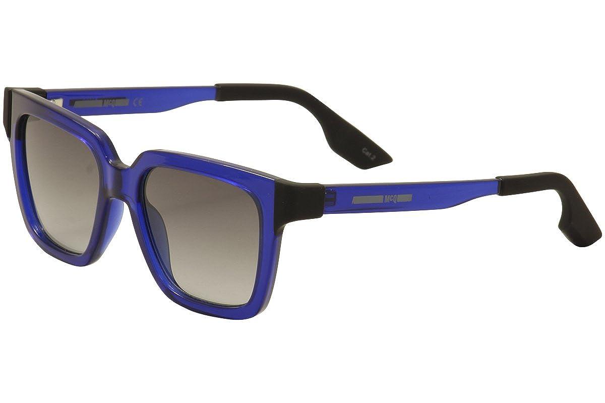 a5bb90b1e6c Amazon.com  Sunglasses McQ MQ0014S-003 BLUE   SMOKE   BLUE  McQueen   Clothing