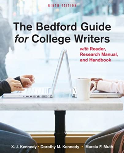 amazon com the bedford guide for college writers with reader rh amazon com bedford guide for college writers ccbc bedford guide for college writers 10th ed
