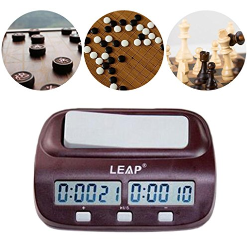 Oldeagle Professional LEAP Game Competition Timer Digital LED Chess Clock I-go Count Up Down Alarm