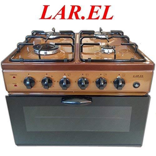 Baby Cocina larel Marrón de camping 4 fuegos Horno Eléctrico Grill ...
