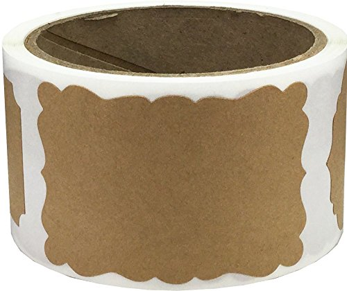 Natural Kraft Christmas Gift Tags Holiday Present Stickers 2 x 3 Inch 100 Total Labels -