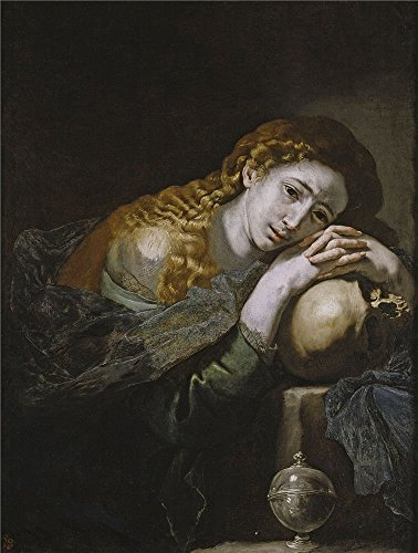 Oil Painting 'Ribera Jose De Penitent Mary Magdalene Ca. 1637', 24 x 32 inch / 61 x 81 cm , on High Definition HD canvas prints is for Gifts And Bar, Living Room And Study Room Decoration Ashton Light Fixture