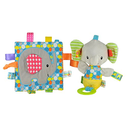Taggies Crinkle Me Toy & Squeaker Elephant Bundle
