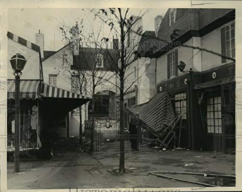1934 Press Photo Streets of Paris in World Fair Damaged - mjx10917 - Historic Images -